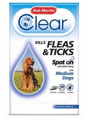 Bob Martin Clear Spot On For Medium Dogs 3 Tubes